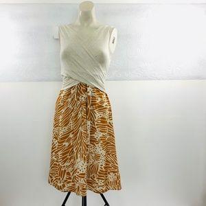 {Anthro} Amadi Lola Cross Front Wrap Dress Small